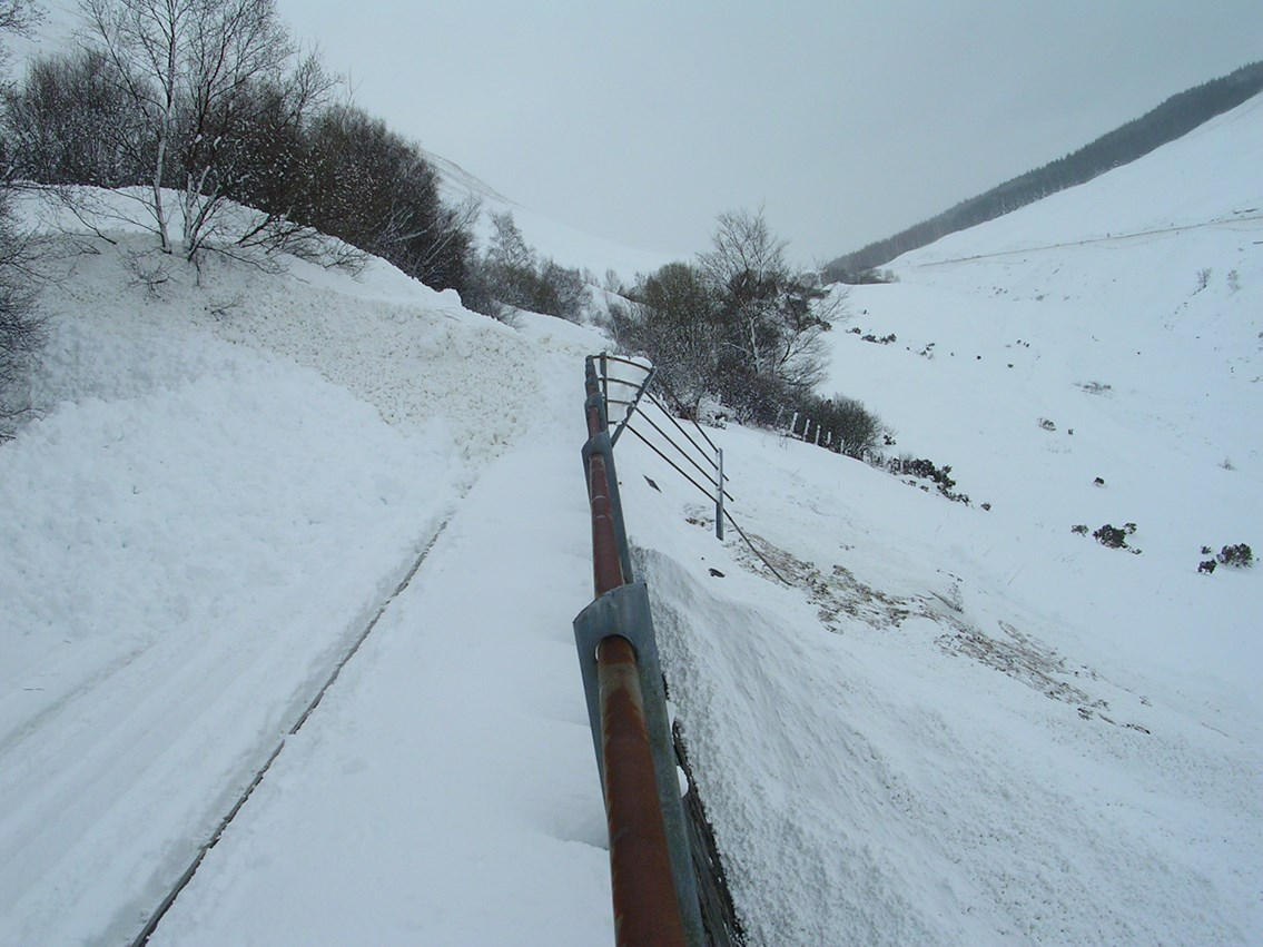 Snow covered railway (2): winter weather