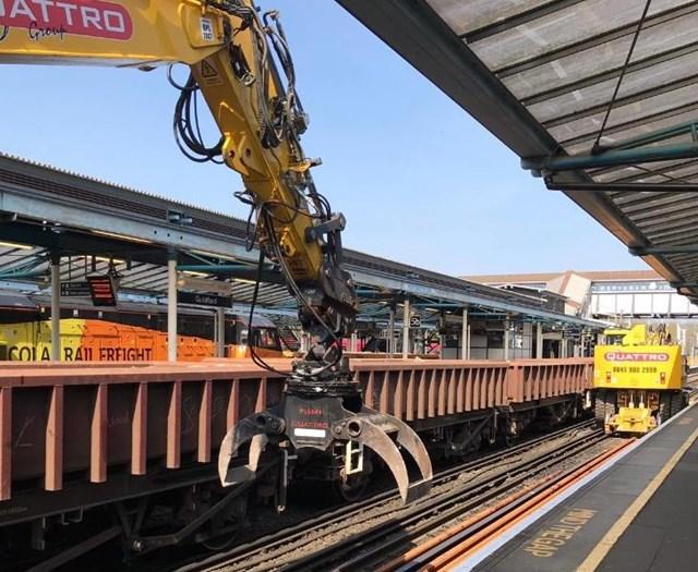 Guildford station new rails: Guildford station new rails