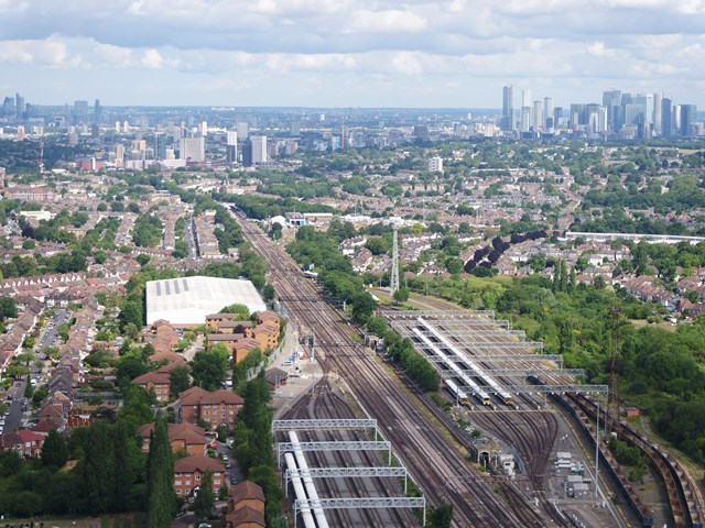 Network Rail launches second phase of Network Operating Strategy: Railway aerial view