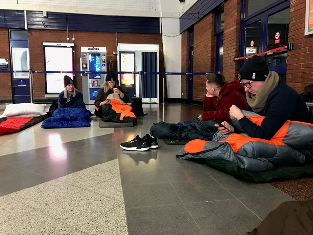 Blackpool North charity sleep out 1