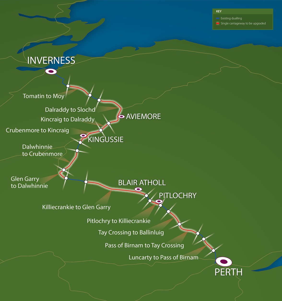 A9 dualling map 16 Mar 2017