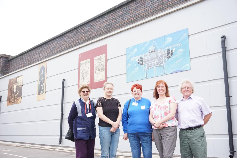Network Rail install heritage murals on upgraded bridge in Nottinghamshire: Network Rail install heritage murals on upgraded bridge in Nottinghamshire