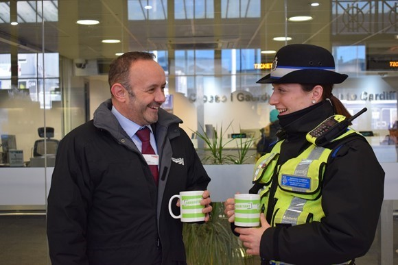Wales and Borders rail staff support Samaritans to turn 'Blue Monday' around with a cuppa: AndyThomas