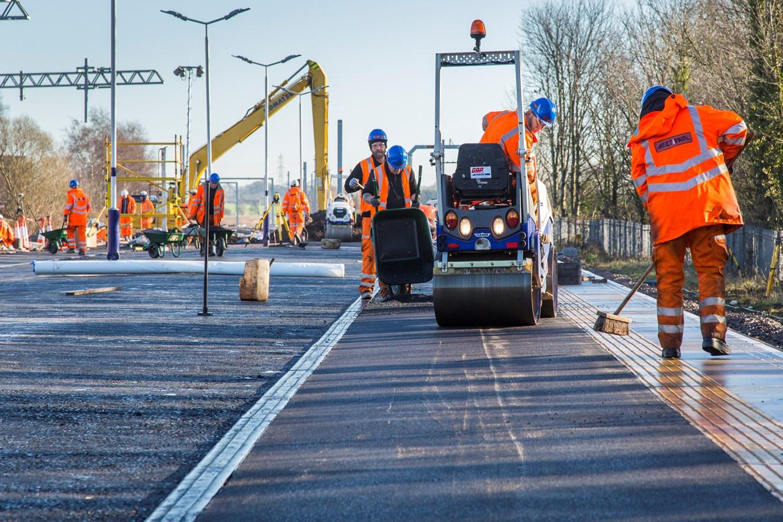 Platform improvements at Kirkham & Wesham station