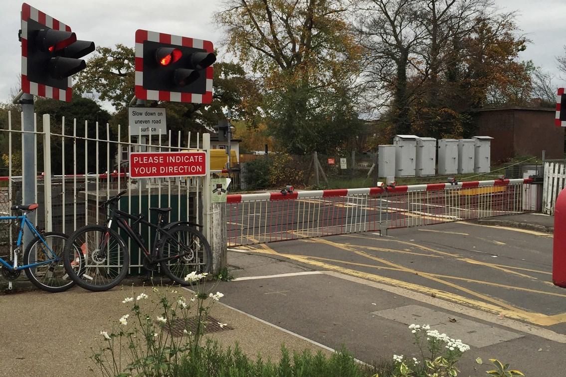 Work to prepare for improvements to Ashtead level crossing about to begin: Ashtead Level Crossing (1)