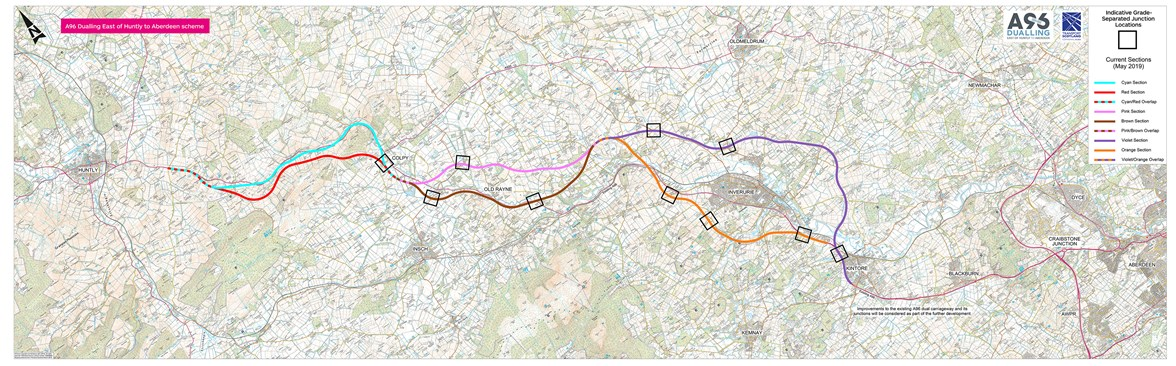 A96 East of Huntly to Aberdeen Route Options Plan May 2019