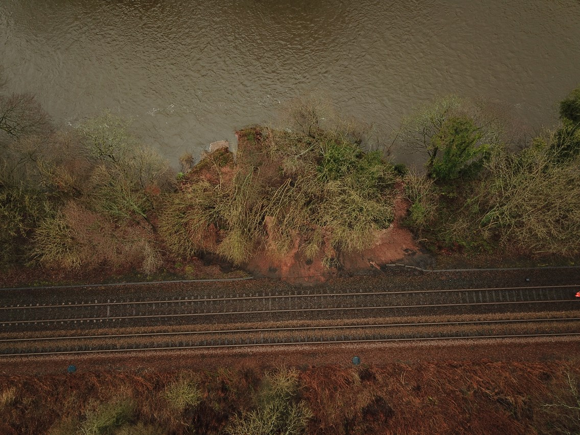 Vital repairs for south west rail line: Holywood landslip 2