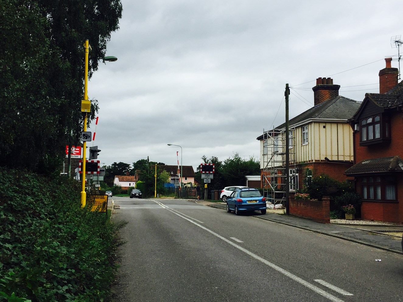 Dangerous driving at level crossings in Suffolk more than halved following installation of safety cameras: Westerfield level crossing RLSE-2