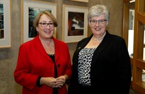 Minister for Community Safety and Legal Affairs, Annabelle Ewing and NHS 24 Chair, Esther Roberton
