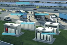 Siemens e-Trucks infographic