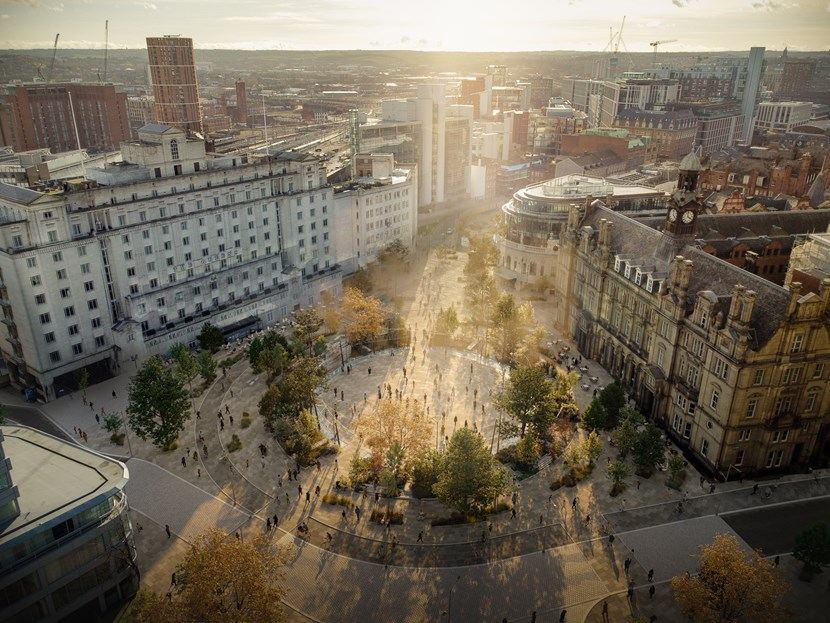 City Square transformation scheme poised to enter important new phase: City Square, daytime concept image