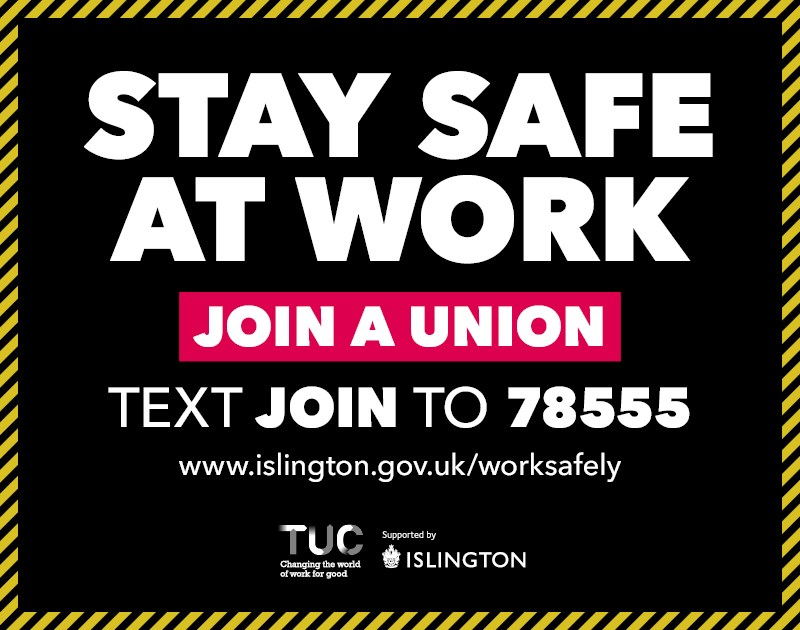 TUC and Islington Council stand together to promote safe return to work: Islington Council Ad Campaign 2020 Online Graphic Media Site AW