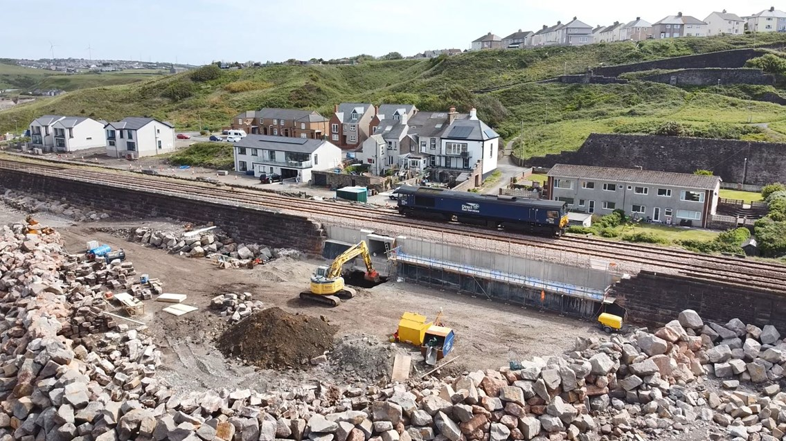 Trains back on track after major repairs to storm ravaged Cumbrian Coast line