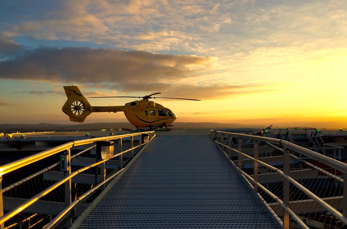 Paul Swinton Helicopter over Bridge