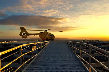 Paul Swinton Helicopter over Bridge