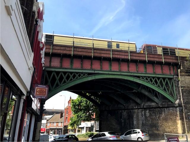 Work underway to give Chatham's historic Luton Arches railway bridge a facelift: LutonArchesRefurb (8)