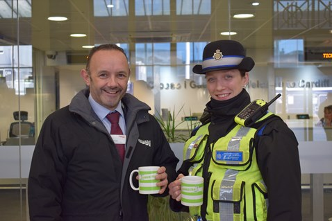 Rail staff will supporting the Samaritans' Brew Monday campaign