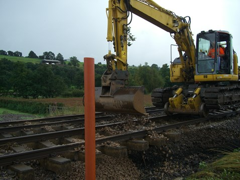 Machine redeployed to replace ballast at Pandy