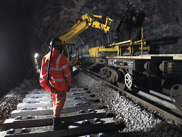 Upholland tunnel engineering work