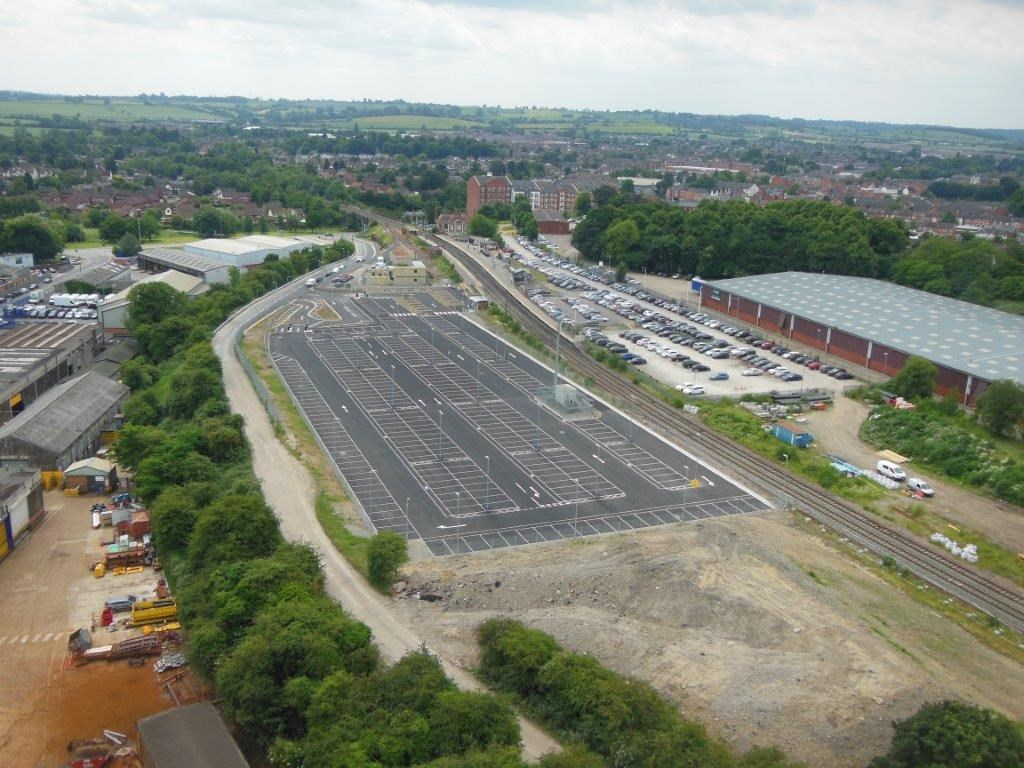 New car park opens for station users as £53million investment in railway in Market Harborough continues: New car park opens for station users as £53million investment in railway in Market Harborough continues