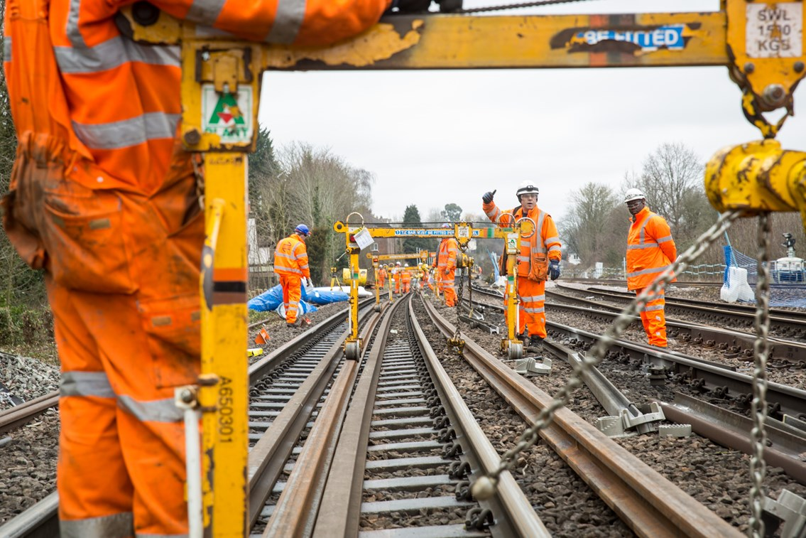 Kent and South East London rail passengers advised to plan ahead over weekends in July and August: NR-EarlswoodTrackWorks 073
