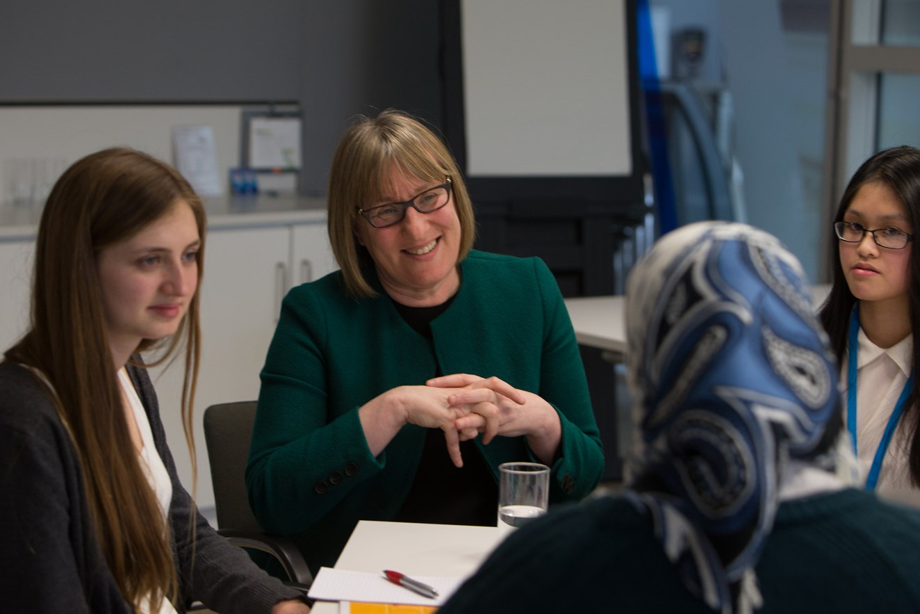 Female employees join forces to celebrate Network Rail as an equal opportunities employer: Group CIO Susan Cooklin talks to finalists at Network Rail's Could IT Be You? IT for girls competition event