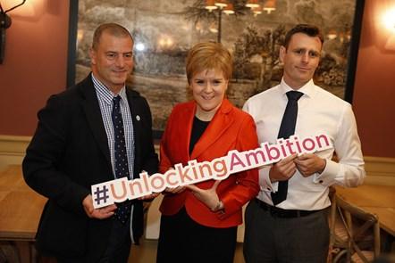 Unlocking Ambition launch Steve Dunlop FM Scott Weir OFFICIAL