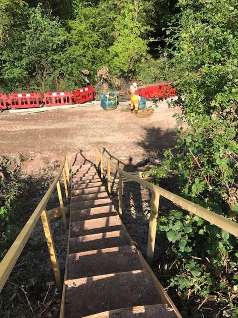 Dean Farm prep work - down the stairs from the railway