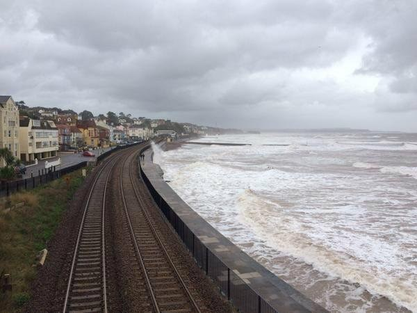 Railway in Devon to be closed tomorrow morning owing to extreme weather: Dawlish image