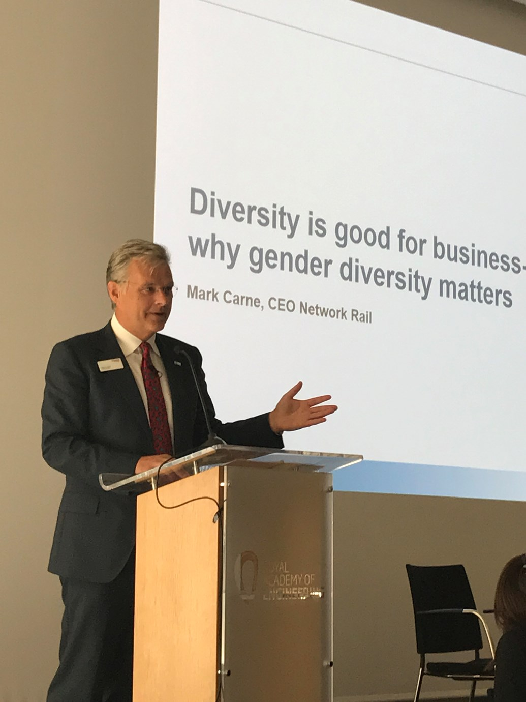 'Getting more women into the railway is key to better performance' says Network Rail: Mark Carne Everyone Summit speech Oct 17