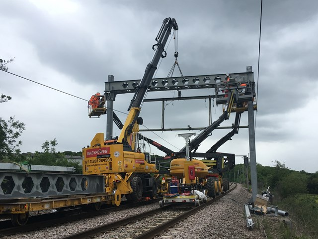 Rail services resume as major upgrade from Southend Victoria to Wickford successfully completed: Southend works May 2019 3
