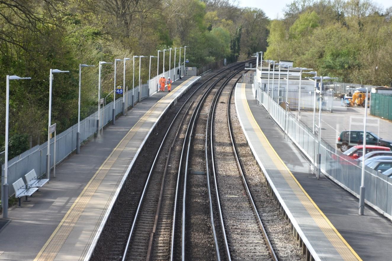 Longer platforms for longer trains: Network Rail completes Egham and Virginia Water platform extensions: Virginia Water Platform Extensions (2)