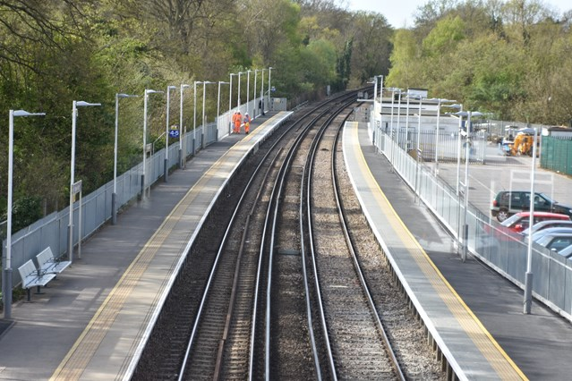 Longer platforms for longer trains: Network Rail completes Egham and Virginia Water platform extensions: Virginia Water Platform Extensions (2)