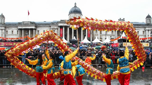 London to welcome in Chinese New Year of the Dog on Sunday: 79285-640x360-cnytrafdancers640.jpg