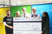 Southeastern employees raise over £7000for charities: Railway Children cheque presentation
