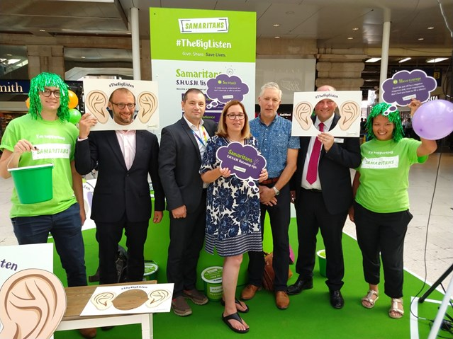Rail industry joins forces to back 'The Big Listen' at Waterloo: Samaritans Big Listen Waterloo