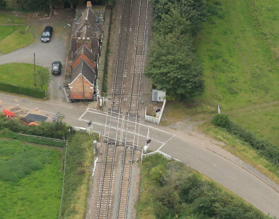 Network Rail boosts reliability of Charnwood level crossing this month: Rearsby level crossing, Charnwood