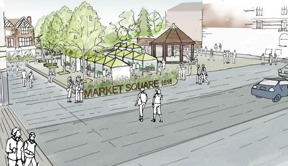 TfL Image - Enfield Market Square