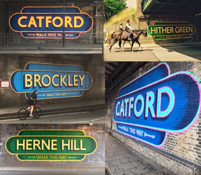 Sign montage