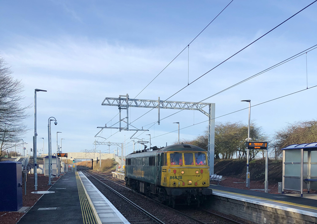 First electric train runs on the Shotts line: Image-1-4