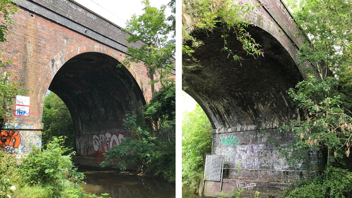 Birmingham brick Victorian viaducts get railway revamp: Stechford viaduct composite 1