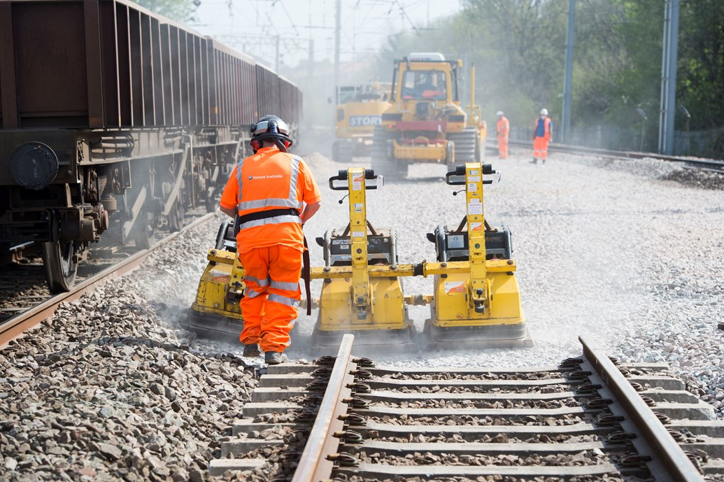 Passengers reminded to check before they travel this bank holiday: 20 April  WCML track renewals Shawfield