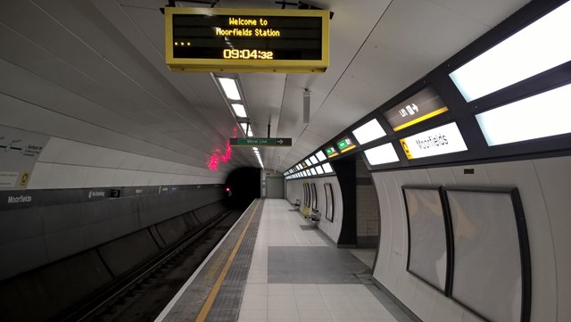 Final platform upgrade at Moorfields station to be completed this weekend