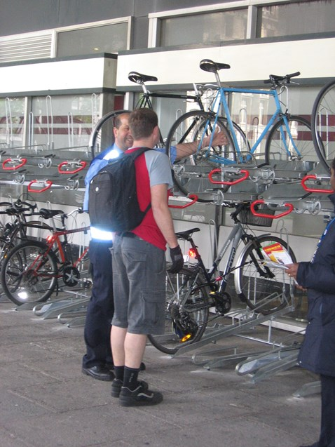 New bike racks at Euston