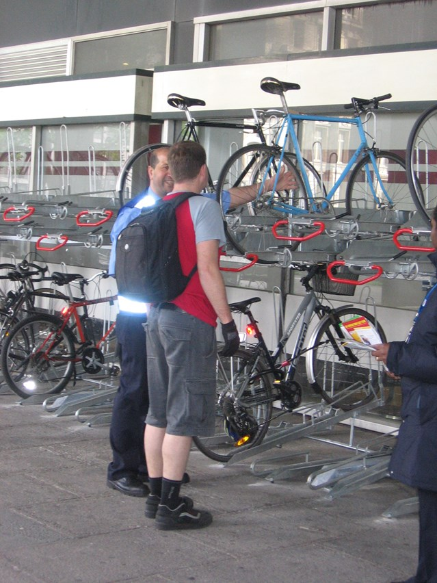 DOUBLE DELIGHT FOR CYCLISTS AT EUSTON: New bike racks at Euston