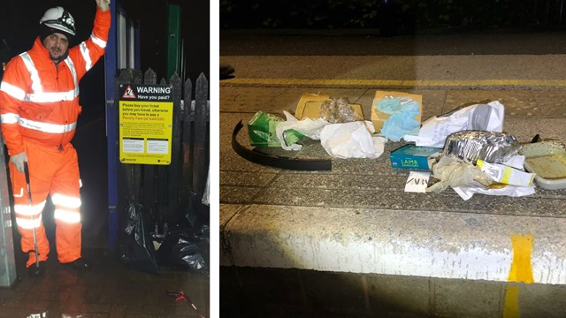 Summer staycation rail routes cleared from litter blight: Summer staycation litter pick