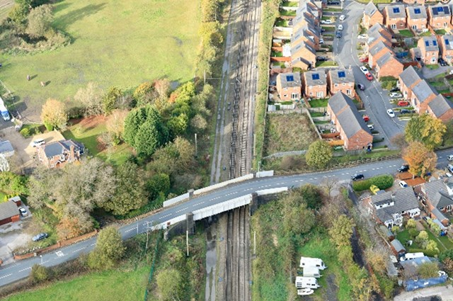 Coppull Moor Lane bridge aerial
