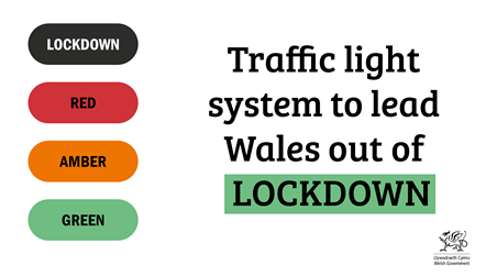 Traffic light system for Wales