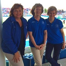 Ministers attend a Commonwealth Games event: Minister for Communicty Safety and Legal Affair, Roseanna Cunningham, Cabinet Secretary for Commonwealth Games, Sport, Equalities and Pensioners' Rights Shona Robison and Deputy First Minister Nicola Sturgeon.