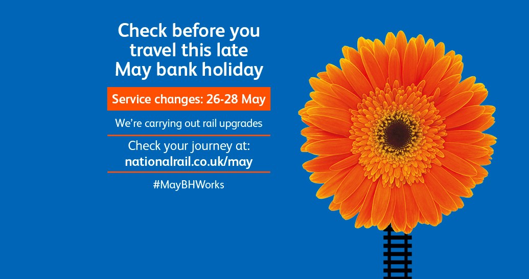 Passengers urged to check before they travel over the late May bank holiday as work to upgrade the railway continues: Check before you travel-12